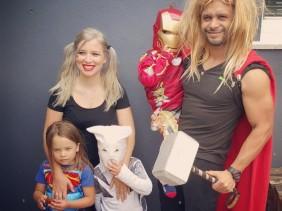 superhero family dress up