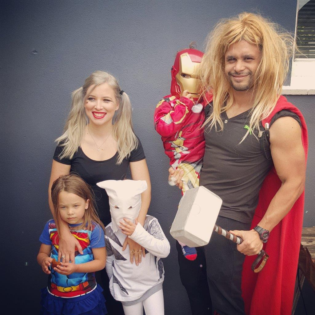 superhero family dress up