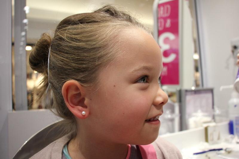 piercing ears