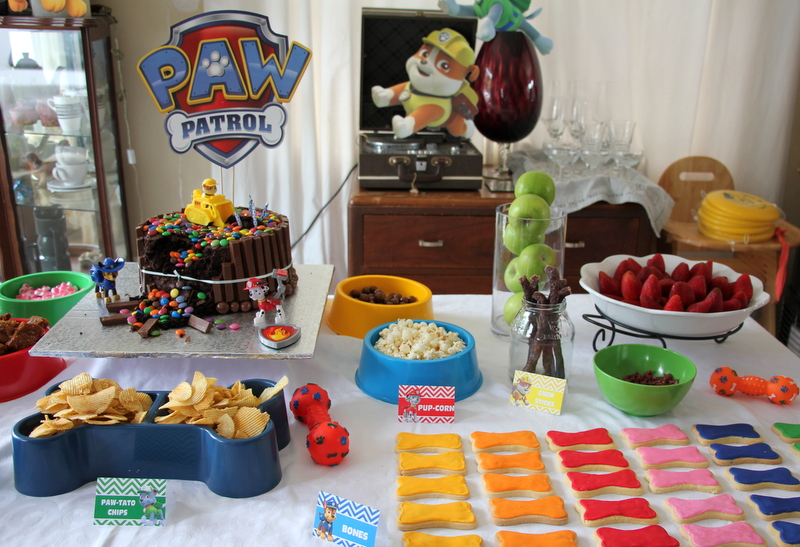 Paw patrol party food, party table