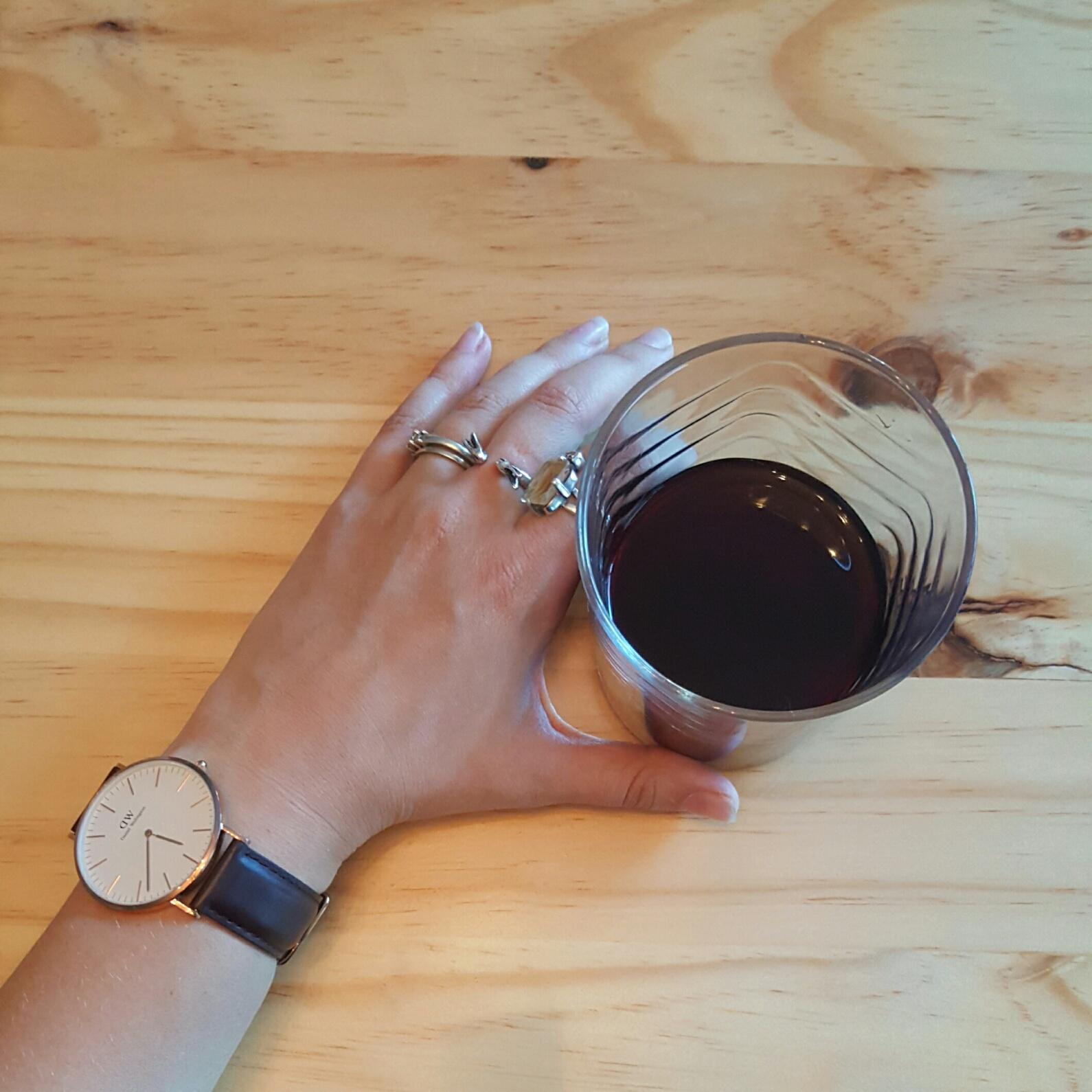 Wine in a tumbler