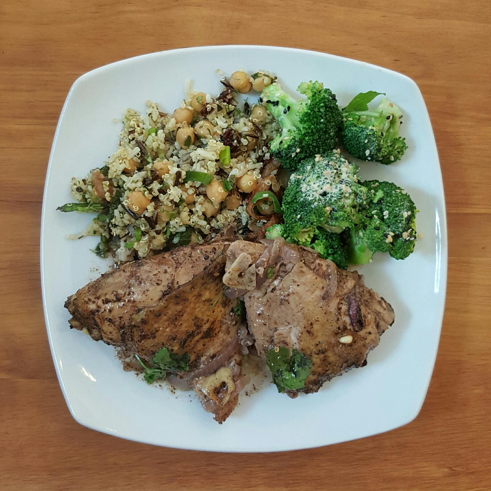 Chicken, broccoli and quinoa salad